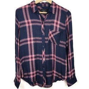 Rails Button Down Plaid Shirt Small Blue Red